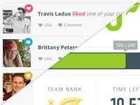 UI for Behavior Change Web App/Game