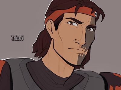 Hunter: The Bad Batch fanart design portrait fantasy concept art characters cartoons illustration character design