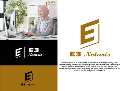 E3 Notatir Logo logotype logosimple web flat illustration type app logodesign minimal logo graphic design branding