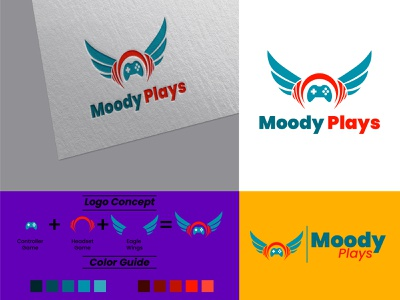 Moody Plays minimal flat icon vector illustration design typography logodesign logo graphic design
