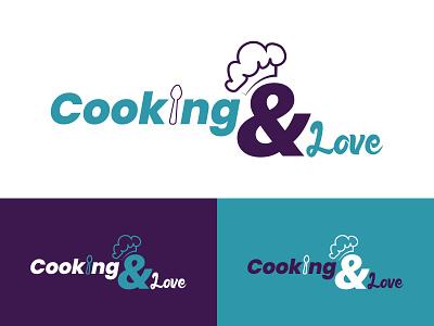 Logo Cooking & Love ui illustration logo design flat typography logodesign branding minimal graphic design