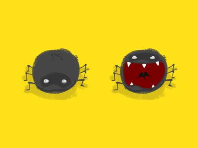 A spider - for a mobile game game sketch illustration mobile spider