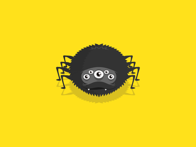 Spider android ios yellow game sketch illustration mobile spider