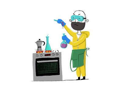 A great designer experiments fearlessly science walter white heisenberg breaking bad breakingbad procreate ux ui illustration design