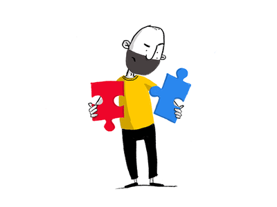 A great designer wants to solve problems solving puzzle designer procreate ux ui illustration design