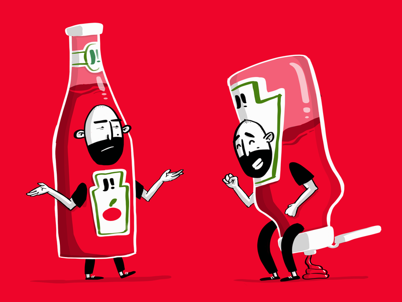 UI vs UX (is NOT a thing) character red ketchup illustration ux ui
