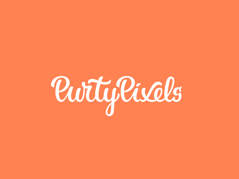 New PurtyPixels Logo logo typography text custom typeface font website