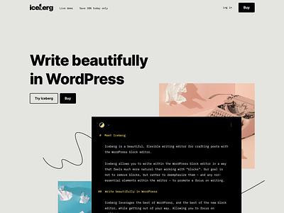 Iceberg: Website wordpress design wordpress website design design bold inter mono minimal clean landing page website