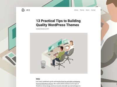 Building Quality WordPress Themes