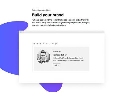 CoBlocks: Build your brand plugin gutenberg gradient modern clean feature landing slider freeform website wordpress coblocks
