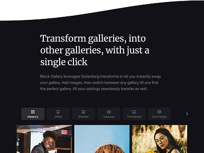 Block Gallery: Website gutenberg clean minimal design website photo gallery block wordpress theme