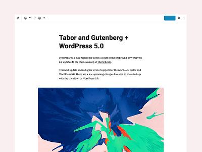 Tabor compatible gutenberg tabor themebeans minimal clean theme wordpress