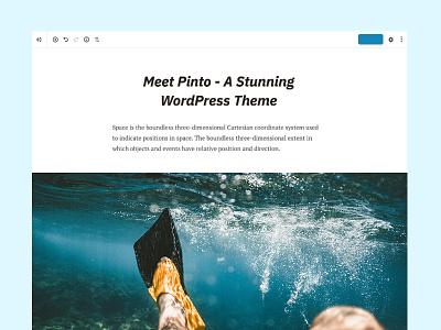 Pinto compatible pinto editor gutenberg blog minimal themebeans theme clean wordpress
