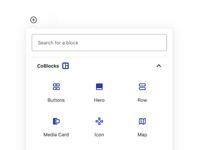 CoBlocks Block Inserter UI