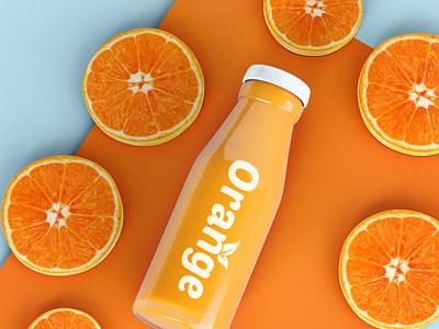 Orange- Juice - Fruit - Logo Design. citrus based fresh nature grapes apple fruits healthy food fruit lemons fruit orange juice organic vitamins vector flat illustration graphic design design creative branding 3d