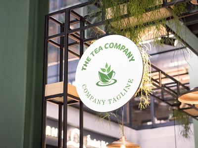 The Tea Company - Logo Design. logo design chai lovers teatime tea lover company tea addict healthy organic green tea cup coffee cafe breakfast vector illustration graphic design flat creative branding 3d