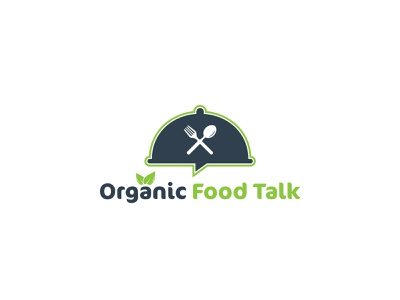 Organic Food Talk - Logo Design fast food yummy blogger photography lover dinner organic food talk tasty cooking cooking healthy gasm tasty foodporn insta foodie foodies homemade delicious vector illustration graphic design flat creative branding