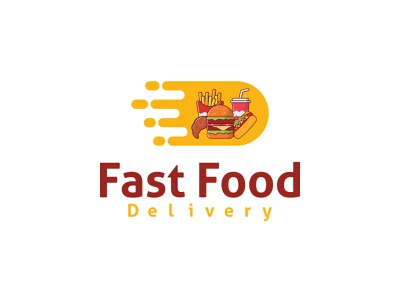 Fast Food Delivery - Logo Design. 3d vector illustration graphic design flat creative branding food yummy blogger photooftheday dinner logo design healthy cooking gasm tasty lover foodporn insta foodies foodie fast food delivery homemade delicious