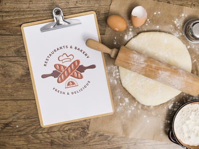 Restaurants & Bakery - Logo Design. vector branding illustration graphic design flat creative yummy blogger bakery restaurants logo design tasty cooking healthy gasm tasty lover foodie foodies homemade delicious cookies baker sweet chocolate bread baking pastry cakes