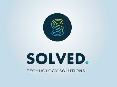 SOLVED / TECHNOLOGY SOLUTIONS technology logo technology tech athens design logo design logotype logo greece