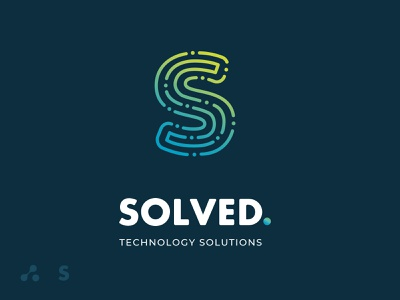 SOLVED / TECHNOLOGY SOLUTIONS technology logo tecnology tech logo tech athens design logo design logotype logo greece