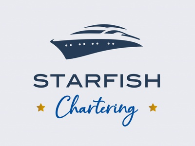 STARFISH Chartering brand and identity branding design sea charter greece corporate identity brand identity branding logo design logotype logo