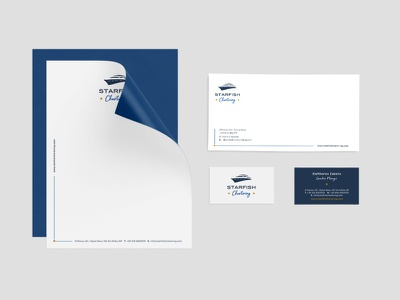 STARFISH Chartering identity branding design logo design logotype logo greece