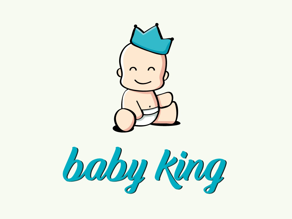 Baby King baby king king greece baby logotype logo design logo