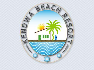 KENDWA BEACH RESORT Logo Design sea logo nature logo resort logo logo