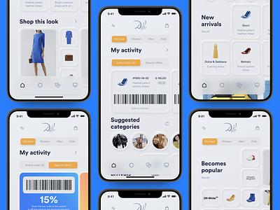 Dali minimal ecomm personalized feed uikit infectedcell ecommerce design shop iphonex uidesign uxdesign feed ios app design ecommerce app ecommerce