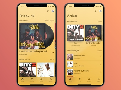 Music app iOS UI Kit alexey kharitonov vector design animation infectedcell iphonex ui design ux ui uikit sketch framerjs musicapp music ios