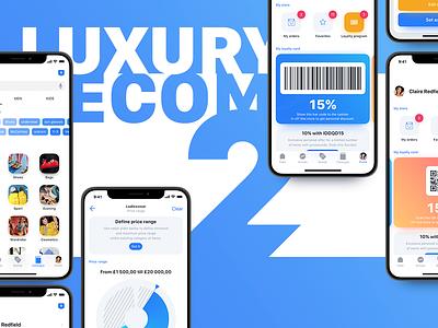 Luxury e-commerce iOS UI kit – Set 2 alexey kharitonov infectedcell ecom ios app catalogue profile buy shop set iphonex iphone