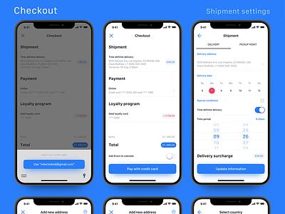 Checkout – E-comm iOS UI kit – Set 3 store checkout payment native luxury iphone ux ui uikit ios e-comm ecom