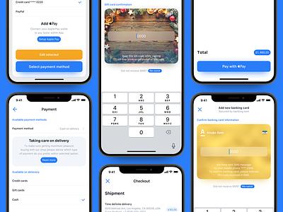 Luxury e-commerce iOS UI kit – Set 4 e-comm ecom shop store online luxury iphone ux ui ui-kit ios app
