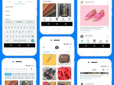 Minimal photoscan app material design social material minimal android app
