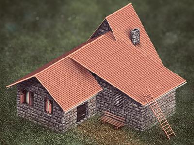 Dribbble ingame house