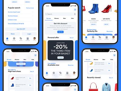 Luxury e-commerce iOS UI kit – Set 6 ux ui infectedcell luxury minimal modern ecommerce ecom ios app