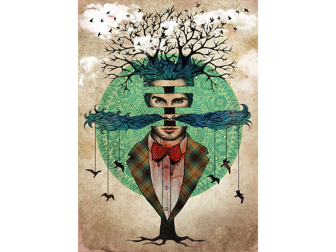 layers of consciousness tree mandalas mustache birds graphics layers mandala roots clouds twigs