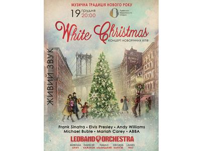 "Poster for Christmas Concert ""White Christmas"""