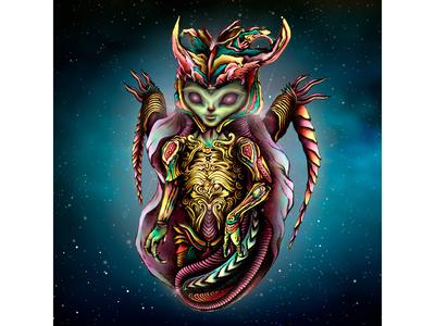 """alien - character for the poster """"MAGIC BREAK"""""""