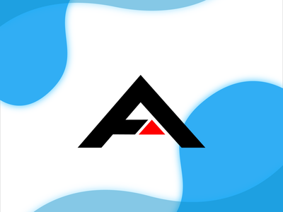 A_Monogram art typography minimalist minimalist logo illustration logo design flat design