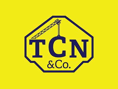 TCN Logo adelle ampersand crane type construction tcn logo