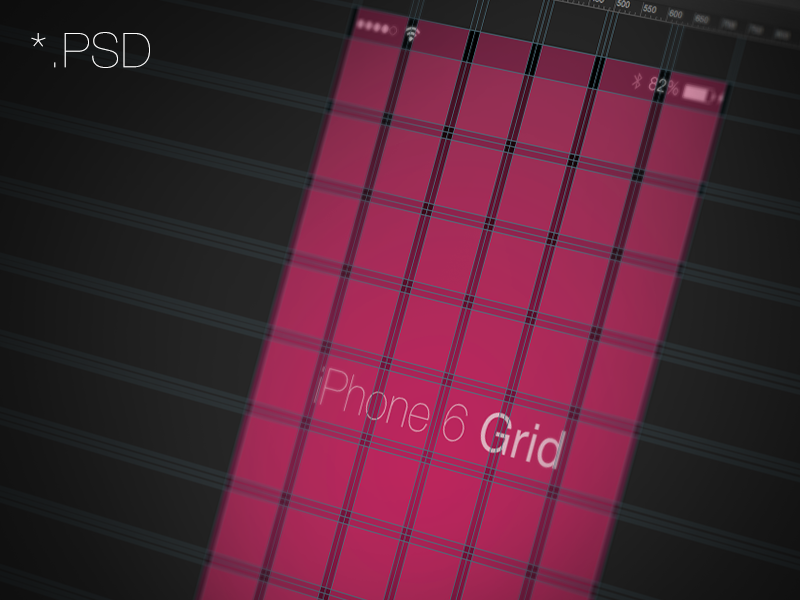 iPhone 6/7/8 Grid - 6, 10 column 10 column 10 iphone 6 grid psd photoshop mockup download layout 6 column iphone 6
