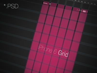 iPhone 6/7/8 Grid - 6, 10 column 10 column 10 iphone 6 grid psd photoshop mockup download layout 6 column iphone 6