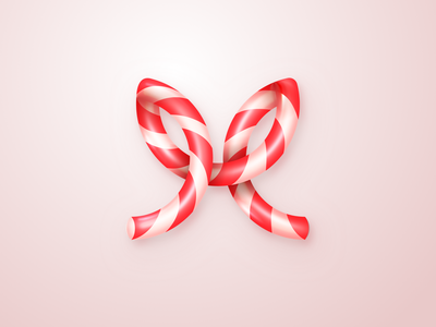 Modus Candy Cane holiday xmas logo white red striped stripes sweet candy cane candy christmas