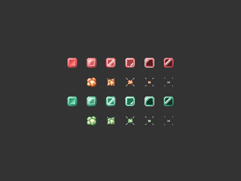 Gems Animation Sprites spritesheet sprite game animation explosion gem bmp bitmap pixel art pixel game design game genus