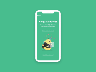Beep App UI Animation & Success animation ui success motion ionic pwa android ios iphone keyboard interaction interface bee pwned security beep green
