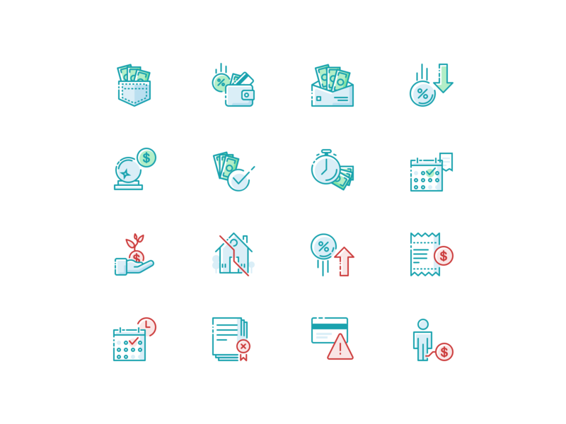 AARP Icon Illustrations conversational minimal stroke vector icon illustration