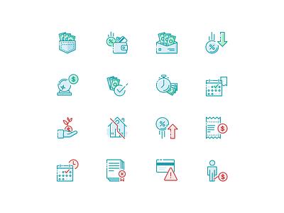 AARP Icon Illustrations conversational minimal stroke vector icon illustration