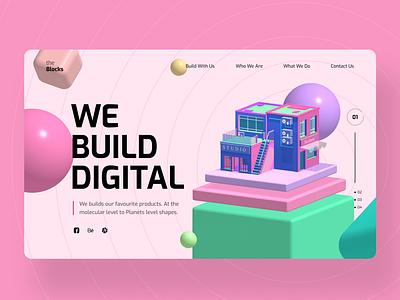 We Build Digital Ui Ux Design Concept 3d animation motion graphics digital 3d illustration web design ui ux